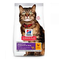 Hills Science Plan Feline Sensitive Stomach & Skin Chicken Сухой корм для кошек с курицей