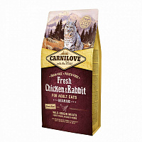 Carnilove Fresh Chicken & Rabbit for Adult cats курица,кролик для котов